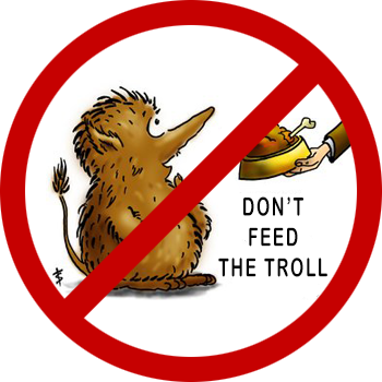 do not feed the troll victim of an internet troll abuse